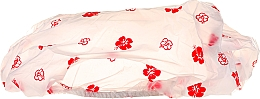 Fragrances, Perfumes, Cosmetics Shower Cap, red flowers 30369 - Top Choice