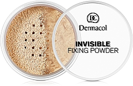 Fragrances, Perfumes, Cosmetics Transparent Setting Powder - Dermacol Invisible Fixing Powder