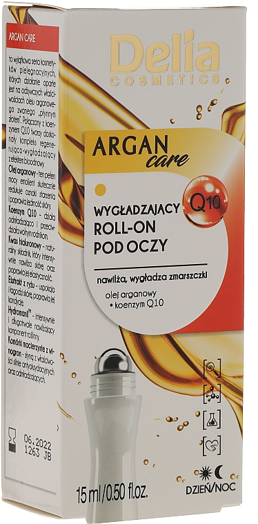 Roll-On Wrinkle Smoothing Gel with Argan Oil for Eye - Delia Argan Care Under Eye Roll-On Wrinkles Smoother