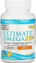 "Fragrances, Perfumes, Cosmetics Dietary Supplement with Lemon Taste ""Omega 2X + Vitamin D3"" - Nordic Naturals Omega 2X Mini With Vitamin D3"