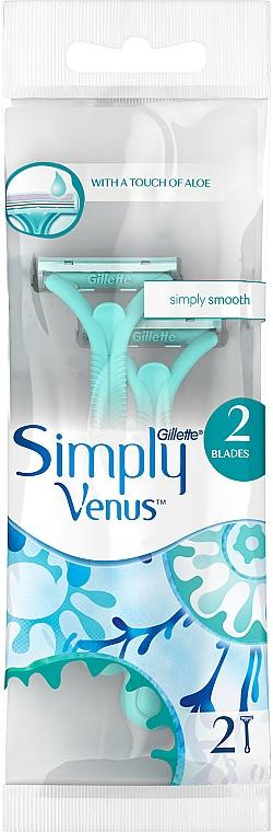 Disposable Shaving Razors, 2 pcs. - Gillette Venus 2 Satin Care