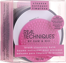 Fragrances, Perfumes, Cosmetics Brush Cleansing Balm with Pad - Real Techniques Brush Cleansing Balm