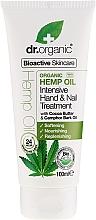 "Fragrances, Perfumes, Cosmetics Hand and Nail Cream ""Hemp Oil"" - Dr. Organic Hemp Oil Intensive Hand & Nail Treatment"
