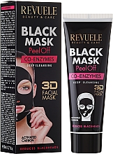 """Fragrances, Perfumes, Cosmetics Face Black Mask """"Coenzyme Q10"""" - Revuele Black Mask Peel Off Co-Enzymes"""