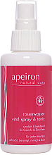 Fragrances, Perfumes, Cosmetics Face and Decollete Spray with Rose Water - Apeiron Rose Water Vital-Spray
