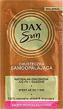 Fragrances, Perfumes, Cosmetics Self-Tanning Wipe - Dax Sun Handkerchief Self-Tanning Towelette