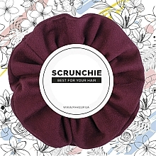"Fragrances, Perfumes, Cosmetics Hair Scrunchie Eco-Suede, burgundy ""Suede Classic"" - MakeUp Hair Accessories"