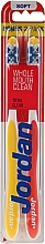 """Fragrances, Perfumes, Cosmetics Toothbrush Soft """"Total Clean"""", red+yellow - Jordan Total Clean Soft"""