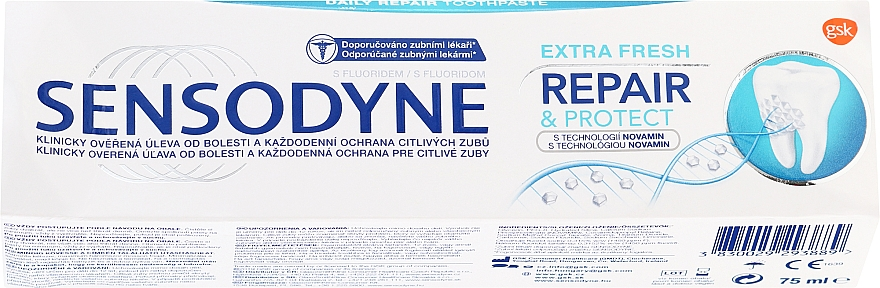 "Toothpaste ""Repair & Protect"" - Sensodyne Repair&Protect Extra Fresh — photo N1"