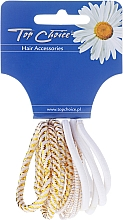 """Fragrances, Perfumes, Cosmetics Elastic Hair Bands """"White Collection"""", white, 12 pcs - Top Choice"""