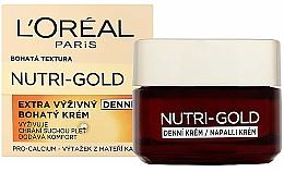Fragrances, Perfumes, Cosmetics Facial Day Care - L'Oreal Paris Dermo-Expertise Nutri Gold