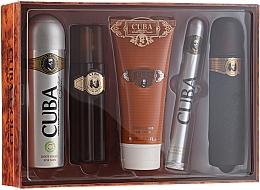 Fragrances, Perfumes, Cosmetics Cuba Gold - Set (edt/100ml + deo/200ml + ash/balm/100ml + sh/gel/200ml + edt/35ml)