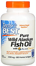 Fragrances, Perfumes, Cosmetics Pure Wild Alaskan Fish Oil with AlaskOmega, capsules - Doctor's Best