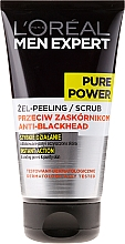 Fragrances, Perfumes, Cosmetics Cleansing Face Peeling Gel - L'Oreal Paris Men Expert Pure Power