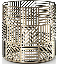 Fragrances, Perfumes, Cosmetics Candle Holder - Yankee Candle Crosshatch Brass Jar Holder