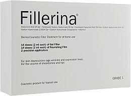 Fragrances, Perfumes, Cosmetics Dermo-Cosmetic Filler Treatment Grade 1 - Fillerina Dermo-Cosmetic Filler Treatment Grade 1 (gel/30ml + cr/30ml + applicator/2szt)