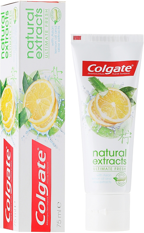 """Toothpaste """"Ultimate Fresh"""" - Colgate Natural Extracts Ultimate Fresh Lemon"""