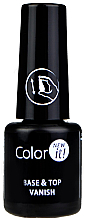 Fragrances, Perfumes, Cosmetics Base Top Coat 2 in 1 - Silcare Color It Base Top Coat 2 in 1