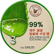 Fragrances, Perfumes, Cosmetics Multi-Purpose Gel with Aloe - The Saem Jeju Fresh Aloe Soothing Gel 99%
