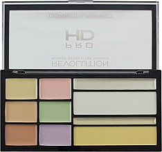 Fragrances, Perfumes, Cosmetics Correcting Palette - Makeup Revolution HD Correct and Perfect Palette