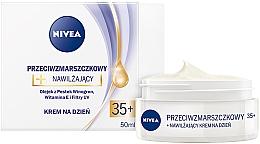 Fragrances, Perfumes, Cosmetics Anti-Wrinkle Moisturizing Cream for All Types of Skin - Nivea Creme Anti-Wrinkle Day Care