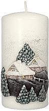 "Fragrances, Perfumes, Cosmetics Decorative Candle ""Christmas House"", 7x14cm - Artman Christmas House Candle"