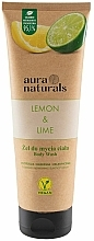 Fragrances, Perfumes, Cosmetics Lemon & Lime Shower Gel - Aura Naturals Lemon & Lime Body Wash