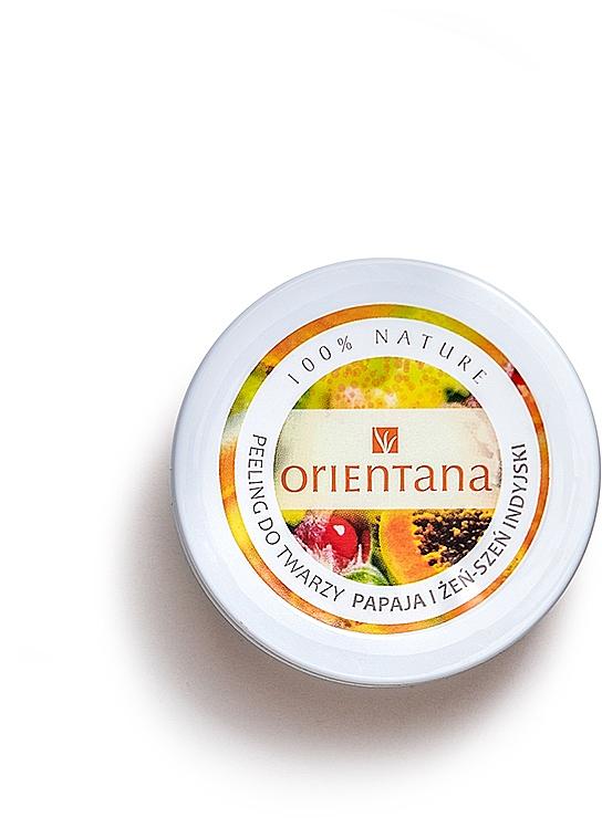 "Cream Face Peeling ""Papaya"" - Orientana Natural Cream Face Scrub Papaya"