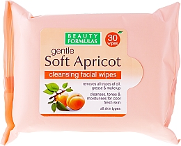 Fragrances, Perfumes, Cosmetics Cleansing Facial Wipes - Beauty Formulas Gentle Soft Apricot Cleansing Facial Wipes