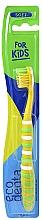 Fragrances, Perfumes, Cosmetics Kids Soft Toothbrush, yellow - Ecodenta Soft Toothbrush For Children