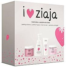 Fragrances, Perfumes, Cosmetics Set - Ziaja I Love Ziaja Marshmallow (b/peeling/300ml + h/cr/50ml + shower/gel/260ml + b/foam/250ml)