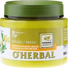 Fragrances, Perfumes, Cosmetics Volume Thin Hair Mask with Arnica Extract - O'Herbal