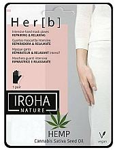 Fragrances, Perfumes, Cosmetics Hand Mask - Iroha Nature Cannabis Hand Mask