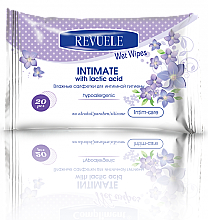 Fragrances, Perfumes, Cosmetics Hypoallergenic Intimate Wash Wet Wipes, 20uds - Revuele Hypoallergenic Intimate Wet Wipes