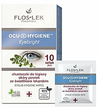 Fragrances, Perfumes, Cosmetics Eyelid Hygiene Wipes - Floslek Eyebright Eyelid Hygiene Wipes