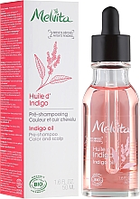 Fragrances, Perfumes, Cosmetics Hair Oil - Melvita Organic Pre-Shampoo Indigo Oil