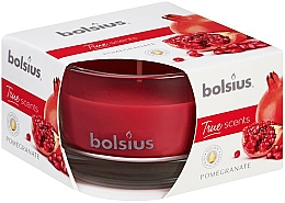 """Fragrances, Perfumes, Cosmetics Scented Candle """"Pomegranate"""", 50x80 mm - Bolsius"""