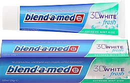 """Fragrances, Perfumes, Cosmetics Toothpaste """"Mint Kiss"""" - Blend-a-med 3D White Fresh Extreme Mint Kiss Toothpaste"""