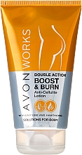 """Fragrances, Perfumes, Cosmetics Anti-Cellulite Body Lotion """"Double Action"""", with Caffeine and Hawthorn - Avon Works Double Action Boost & Burn Anti-Cellilite Lotion"""