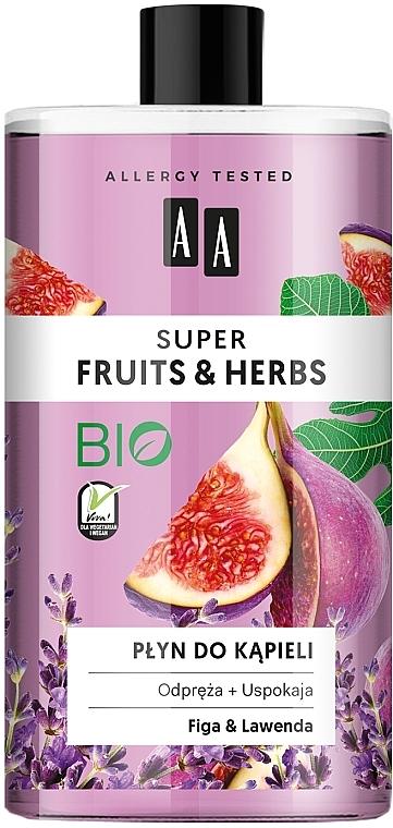 "Bubble Bath ""Figs and Lavender"" - AA Super Fruits & Herbs Bath Foam"