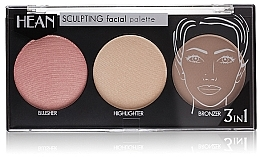 Fragrances, Perfumes, Cosmetics Face Contour Palette 3 Shades - Hean Paletka Sculpting