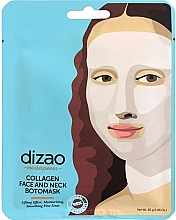 "Fragrances, Perfumes, Cosmetics Face & Neck Botomask ""Collagen"" - Dizao Collagen Face & Neck Botomask"