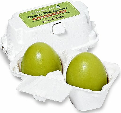 Wash Soap-Mask with Green Tea - Holika Holika Green Tea Egg Soap