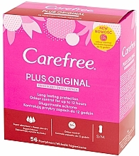 Fragrances, Perfumes, Cosmetics Hygienic Daily Pads, 56pcs - Carefree Plus Original Fresh Scent Pantyliners