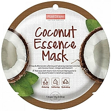 Fragrances, Perfumes, Cosmetics Coconut Extract Face Mask - Purederm Coconut Essence Mask