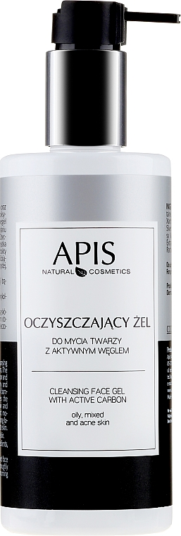 Face Cleansing Charcoal Gel - APIS Professional Cleansing Gel