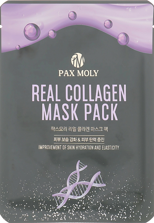 Collagen Sheet Mask - Pax Moly Real Collagen Mask Pack — photo N1