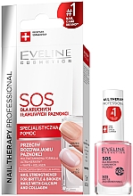 Fragrances, Perfumes, Cosmetics Calcium and Collagen Nail Strengthening Conditioner - Eveline Cosmetics Nail Therapy Professional