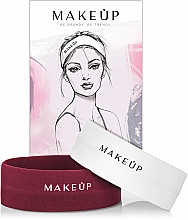 "Fragrances, Perfumes, Cosmetics Headband Set, jersey ""Marsala&White"" - MakeUp"