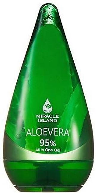 Aloe Vera Face, Body & Hair Gel - Miracle Island Aloevera 95% All In One Gel — photo N1